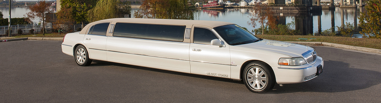 White Limousine rental in wilmington nc